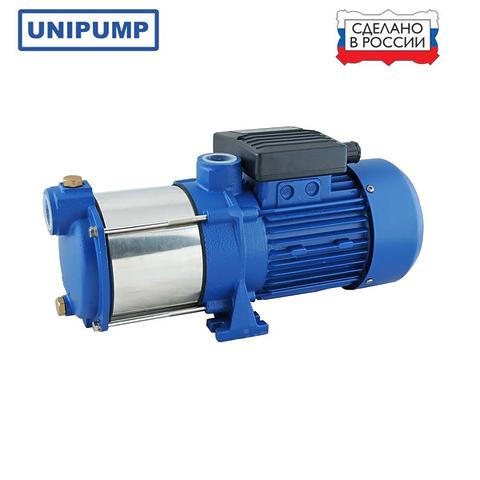 """Насос многоступенчатый UNIPUMP МН-600 С, 1100 Вт, Н макс - 65м, Q макс-92 л/мин, 1""""х1"""", корпус-нерж.сталь"""