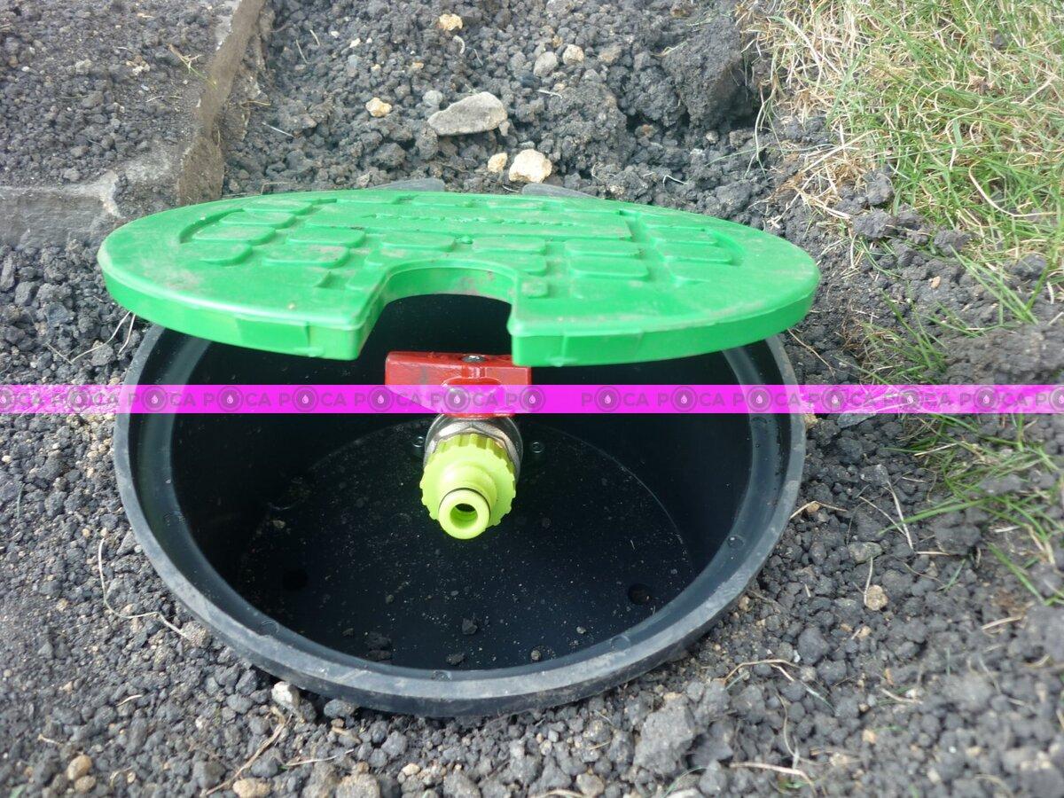 """Короб с водяной розеткой Rain Bird ВР 3/4""""  VBA17186  Бокс гидрант со встроенным краном"""