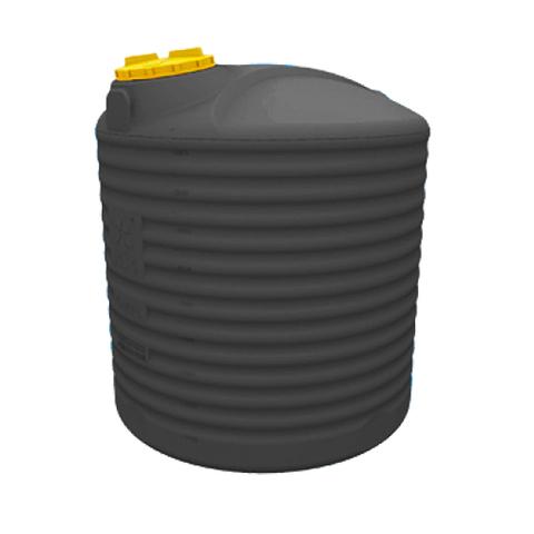 Емкость цилиндрическая вертикальная 10000 литров (цвет черный)