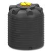 Емкость цилиндрическая вертикальная 5000 литров (черная)