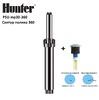 Дождеватель с насадкой Hunter PSU mp 30360 (6,7 - 9.1 m радиус), сектор полива 360°