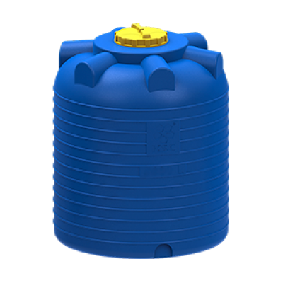 Емкость цилиндрическая вертикальная 1500 литров (черная)