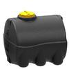 Емкость 3000 литров цилиндрическая горизонтальная (черная)