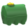 Емкость 2000 литров цилиндрическая горизонтальная (зеленая)