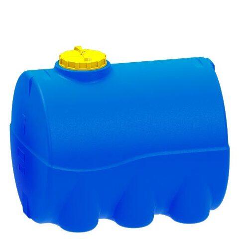 Емкость 3000 литров цилиндрическая горизонтальная (синяя)