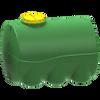 Емкость 5000 литров цилиндрическая горизонтальная (зеленая)