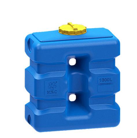 Емкость прямоугольная 1000 литров (синяя)