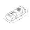 Емкость 1000 литров вертикальная / горизонтальная (столбик)